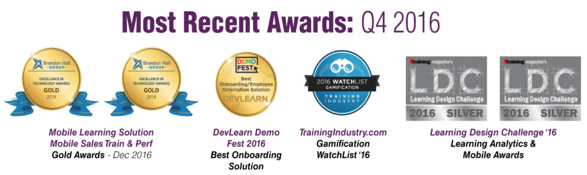 Most Recent Awards: Q4 2016